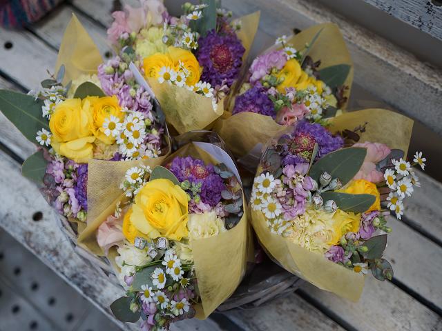 卒業祝い春の花束
