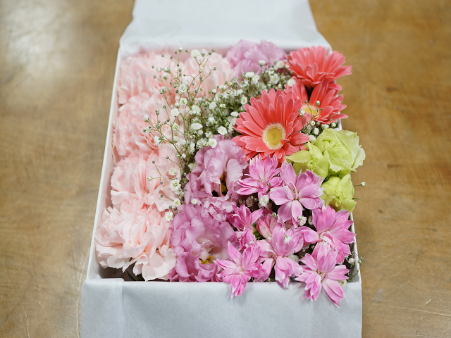 わんちゃんのお別れの花
