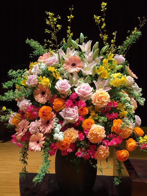卒業式装花
