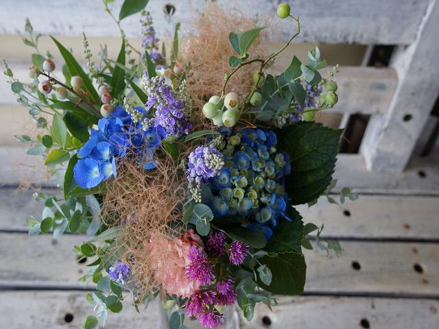 アジサイブルー花束